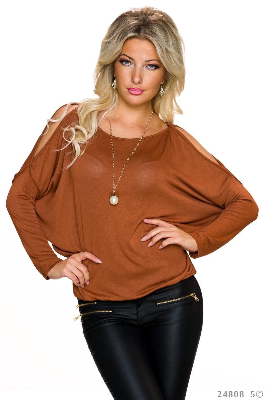 Shirt met lange mouwen Terracotta