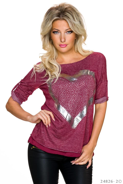 Shirt Wijn-Rood