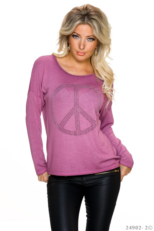 Gebreid-Shirt Mauve