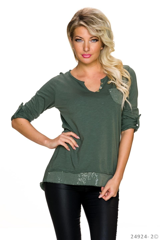 Shirt deep Groen