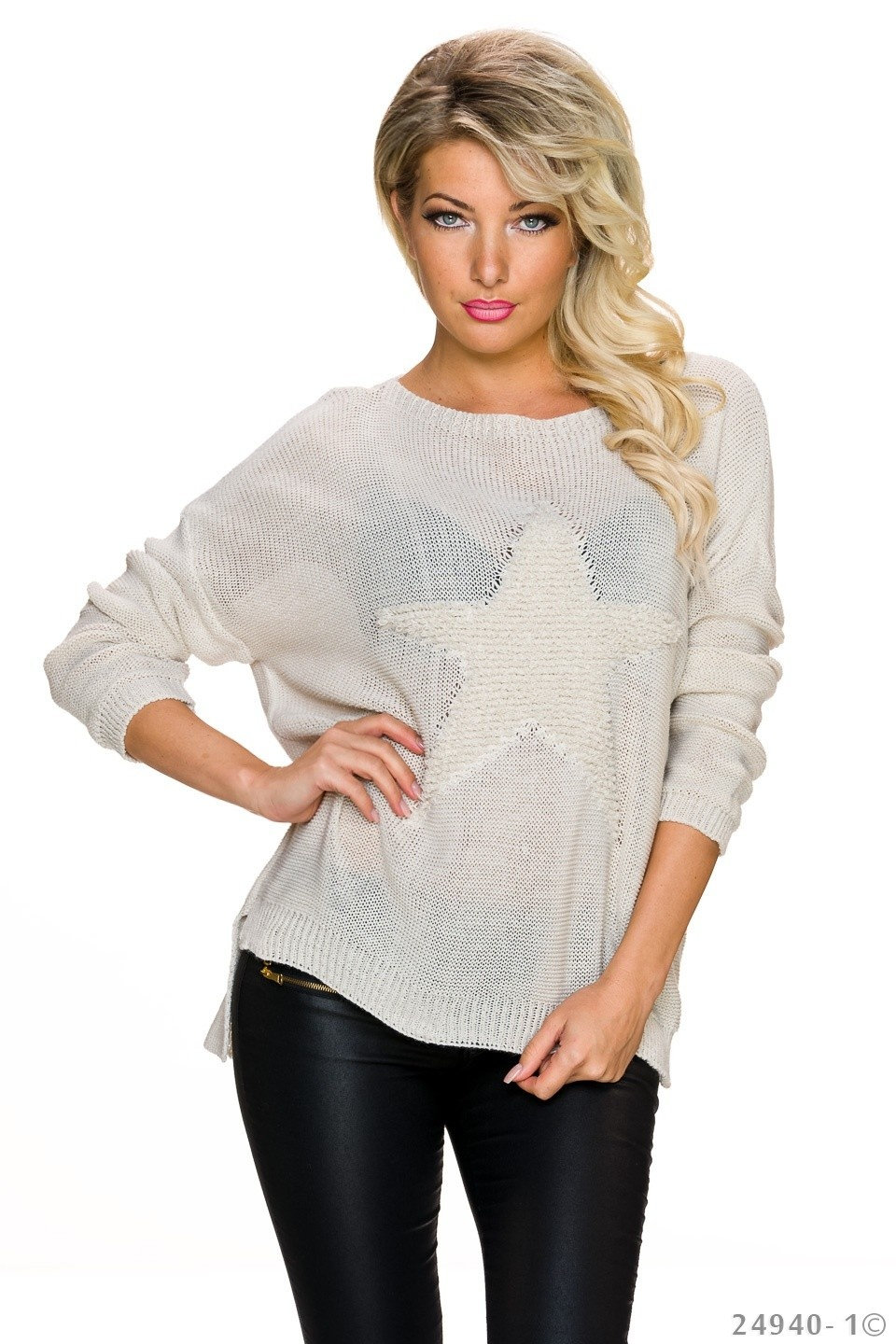 Knitted-Pullover Cream