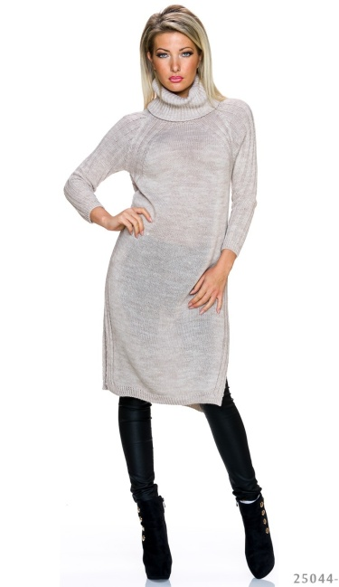 Knitted-Dress Cream