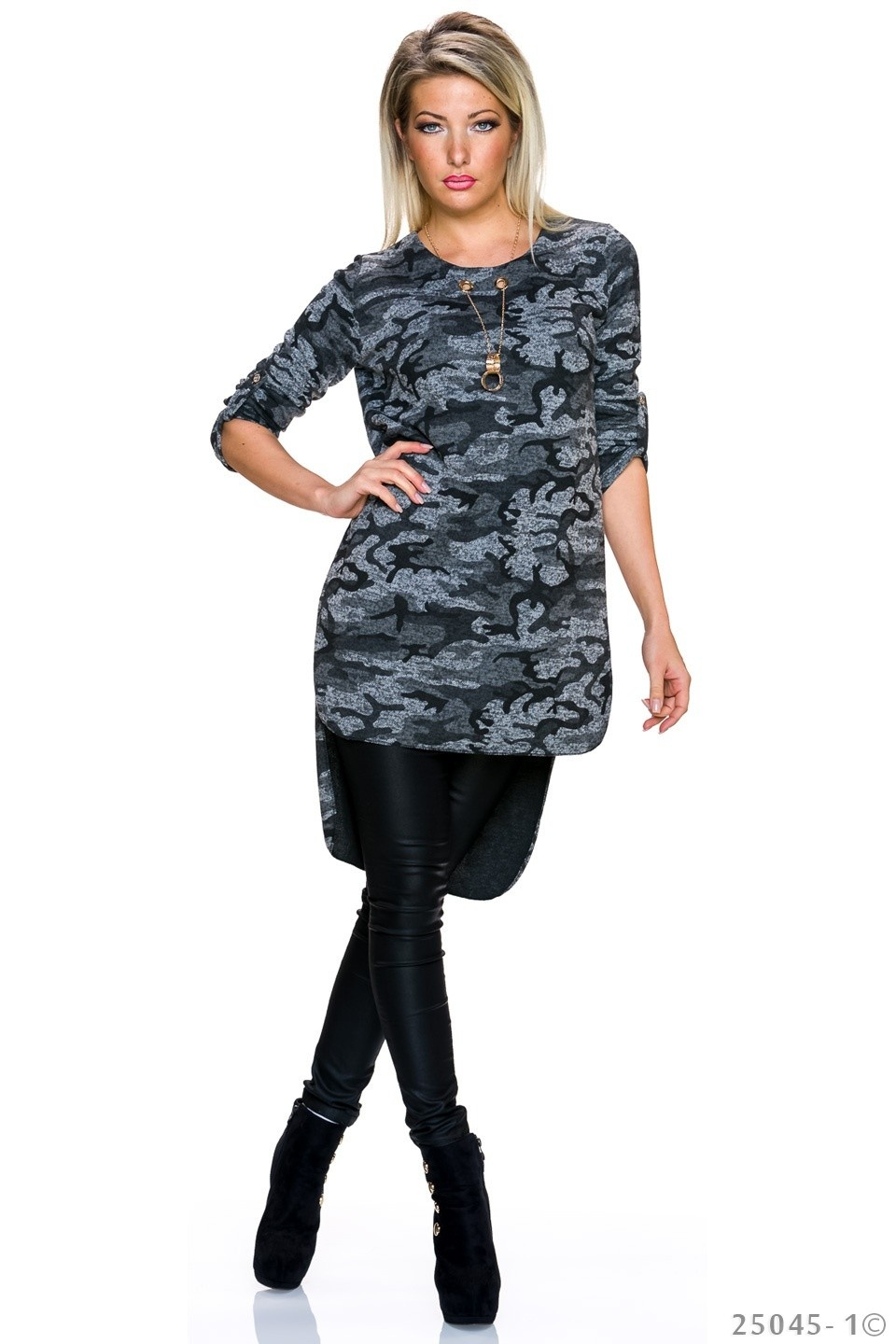 Long-Blouse Camouflage - Grijs
