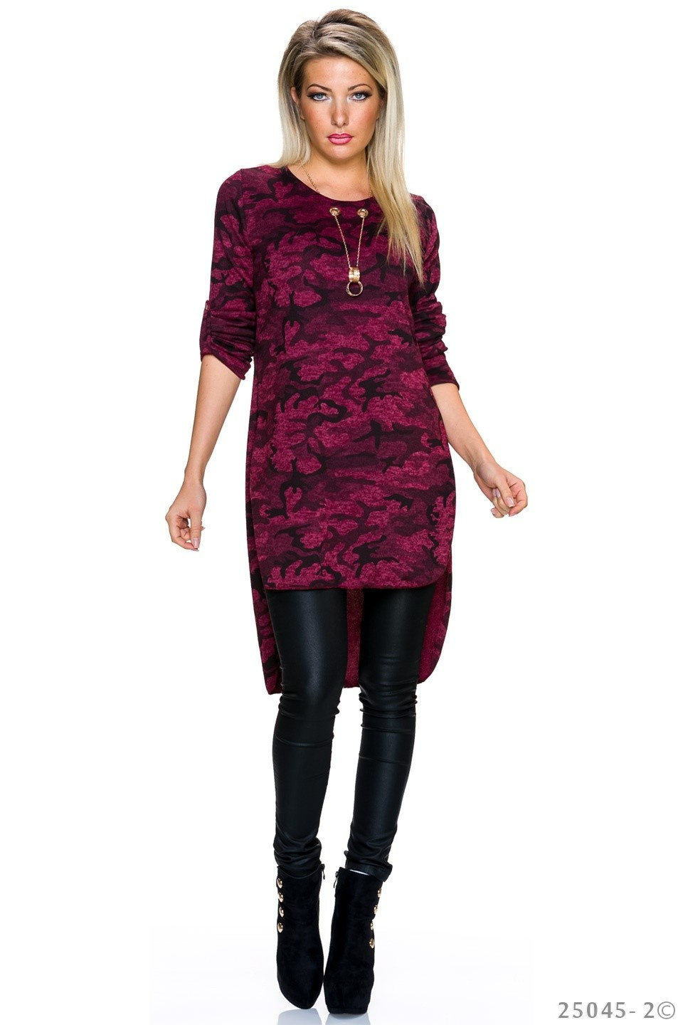 Long-Blouse Camouflage - Rood