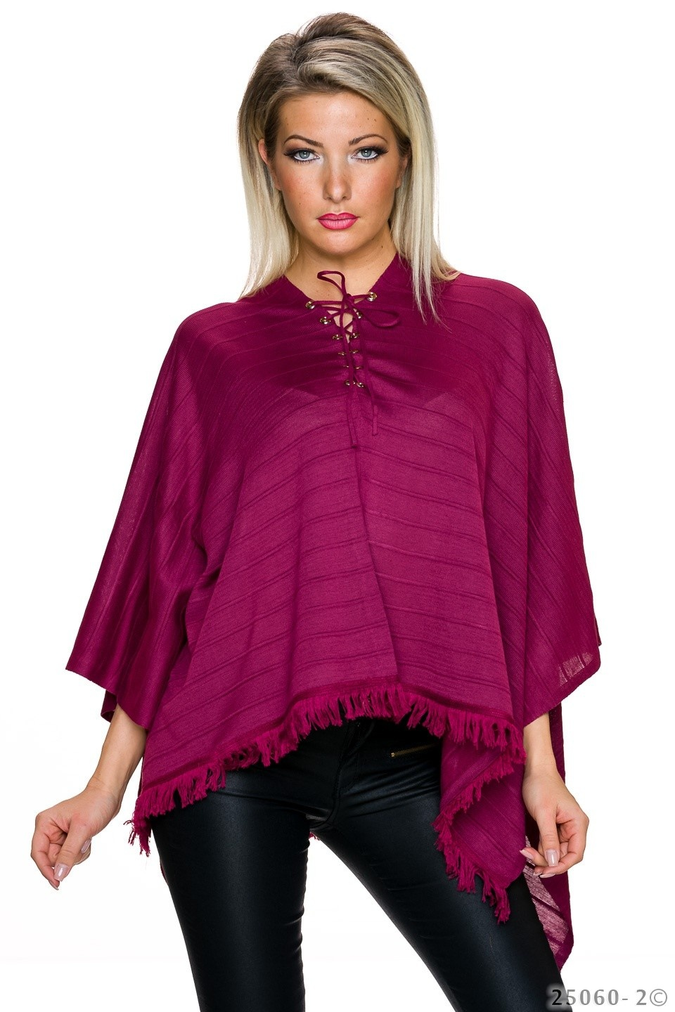 Poncho Wine-Red