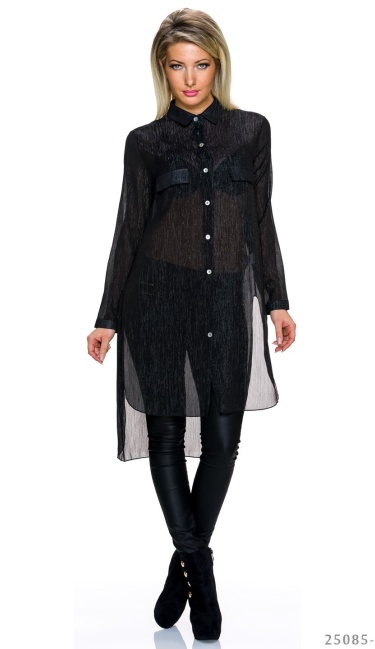 Long-Blouse Black