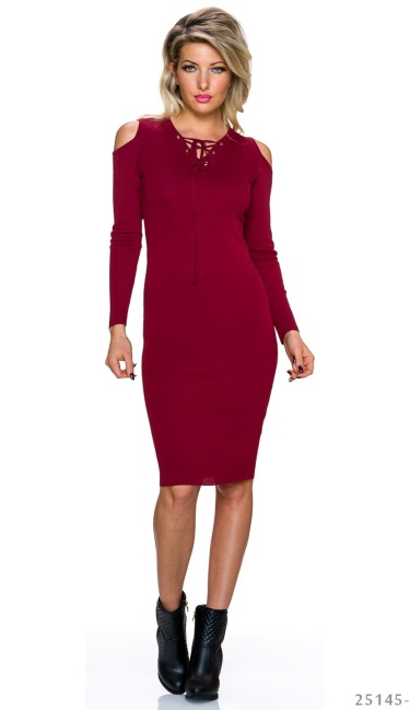 Midi Dress Wine-Red