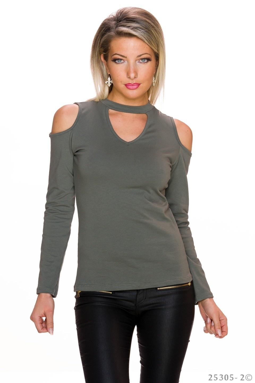 Shirt met lange mouwen Olijf