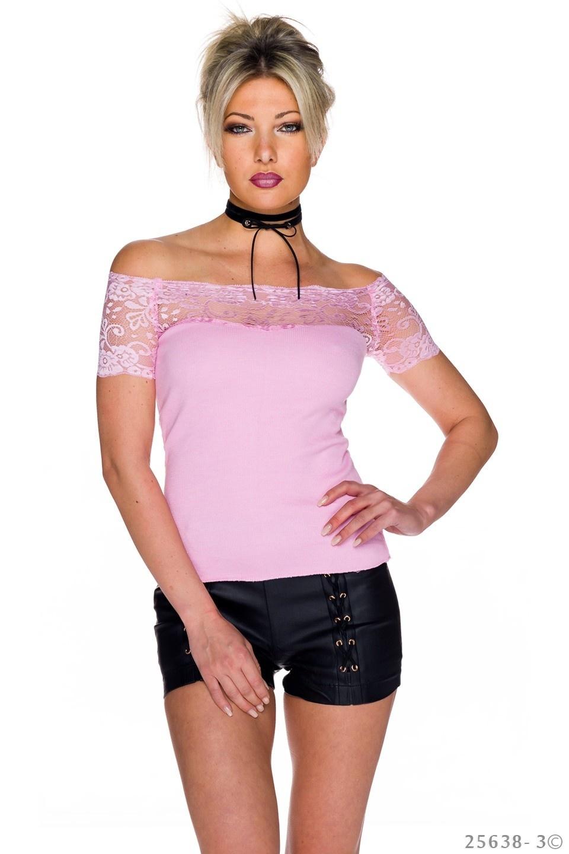 Shirt met korte mouwen Roze