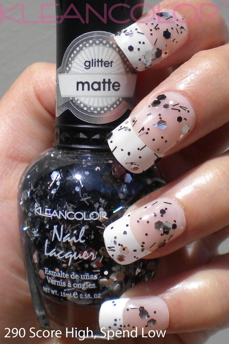 Nagellak Zwart glitter