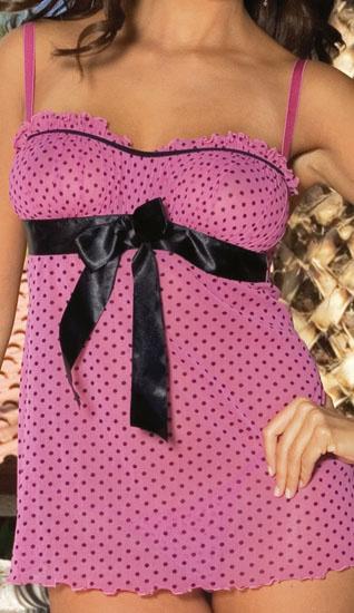Babydoll Roze - Zwart