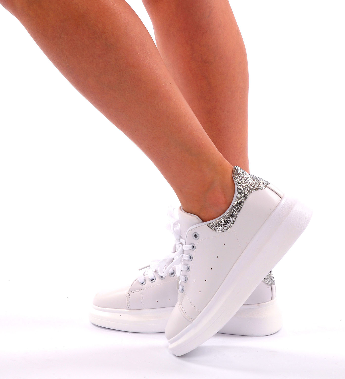 Sneakers White - Silver