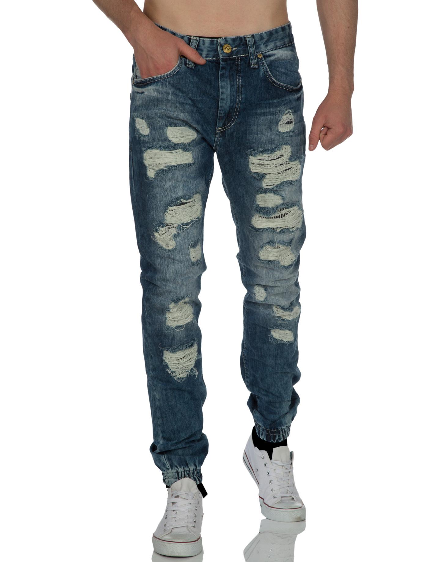 Jeans destroy blauw