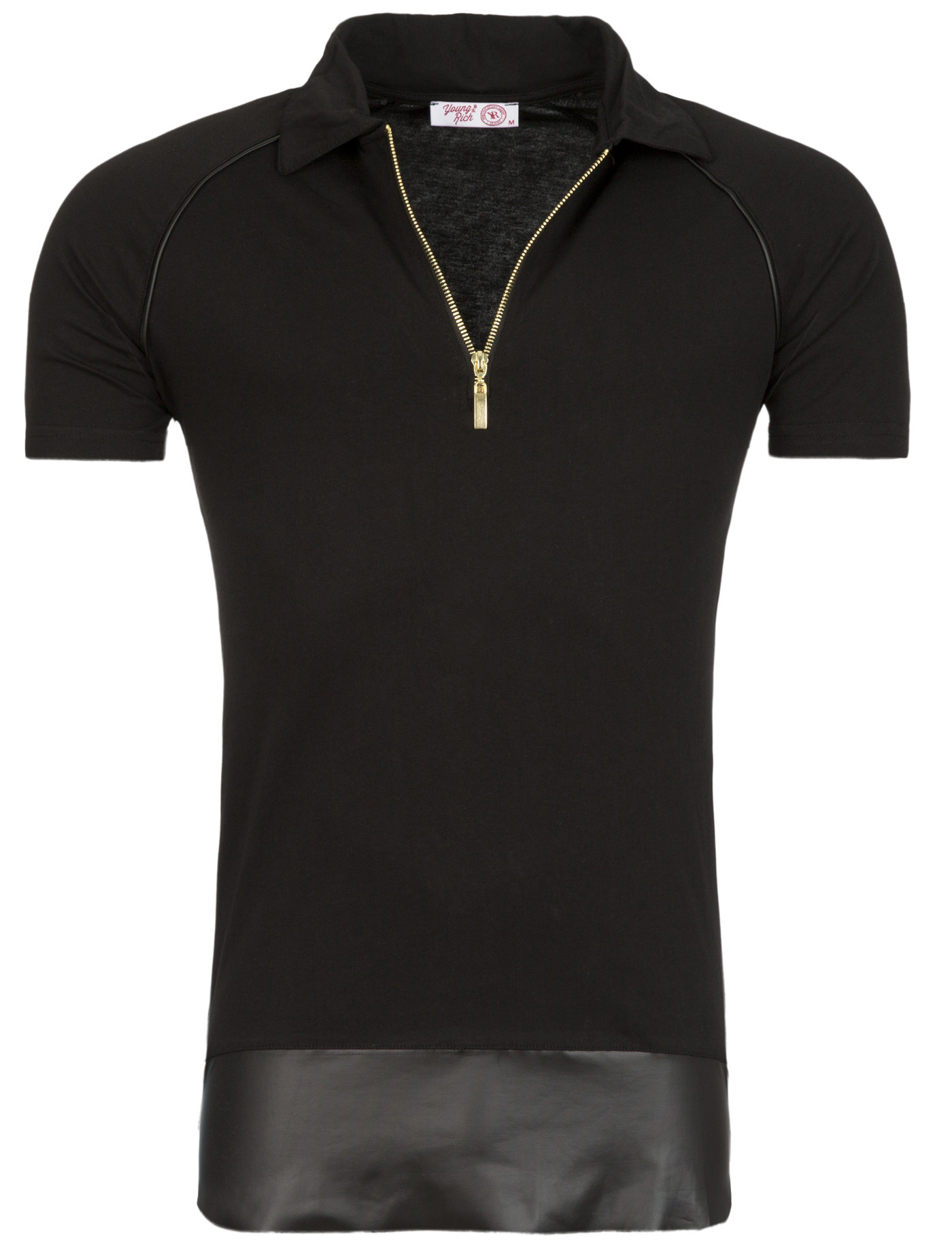 Polo T-Shirt Zwart