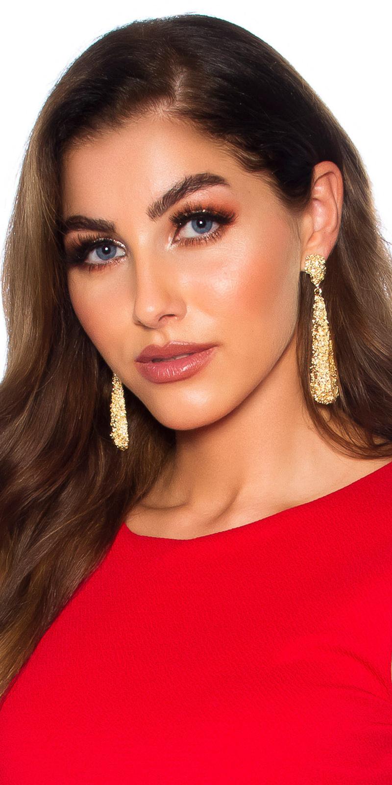 Sexy oorbellen hangend goud