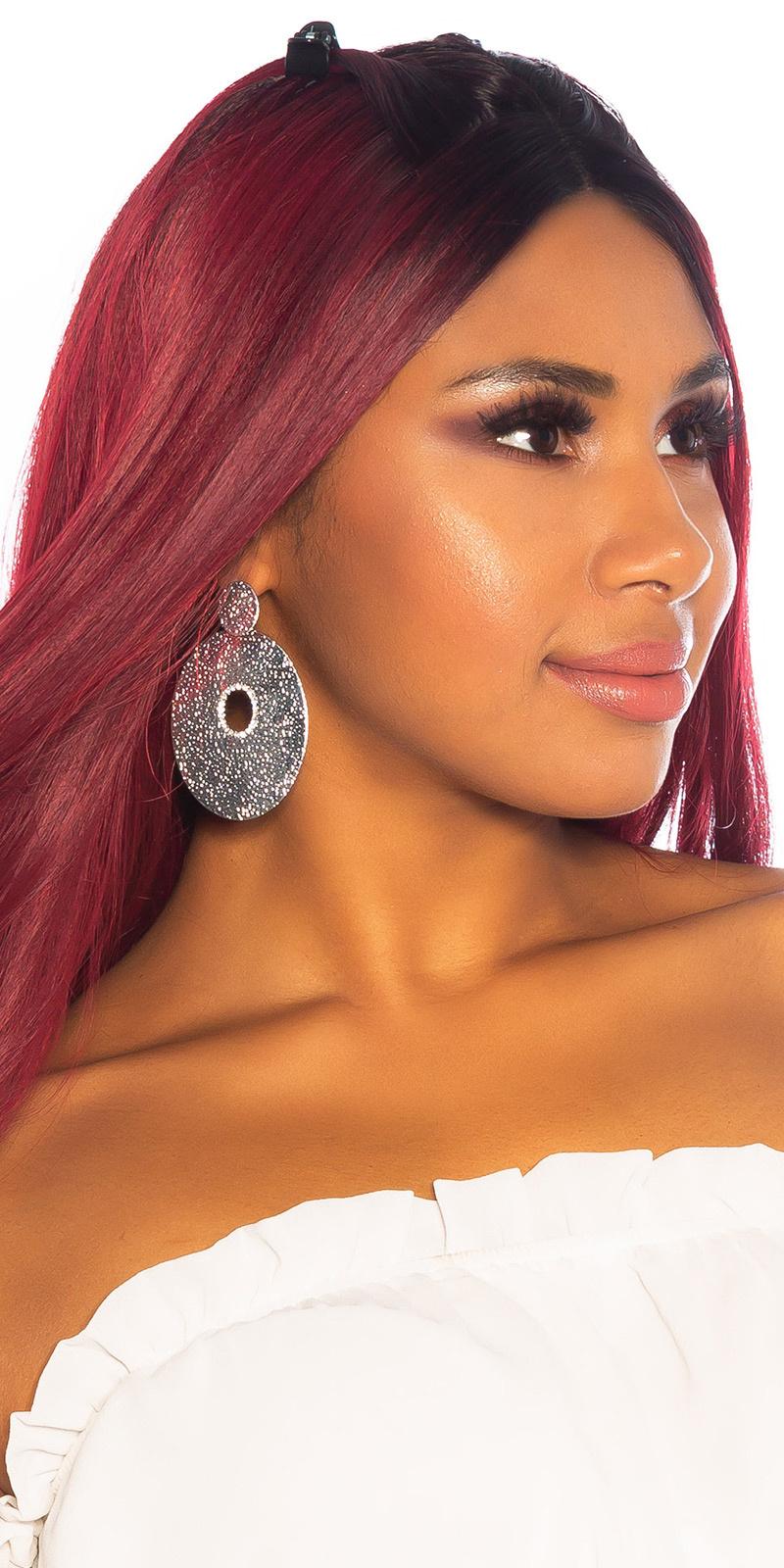 Sexy big stud oorbellen zilver
