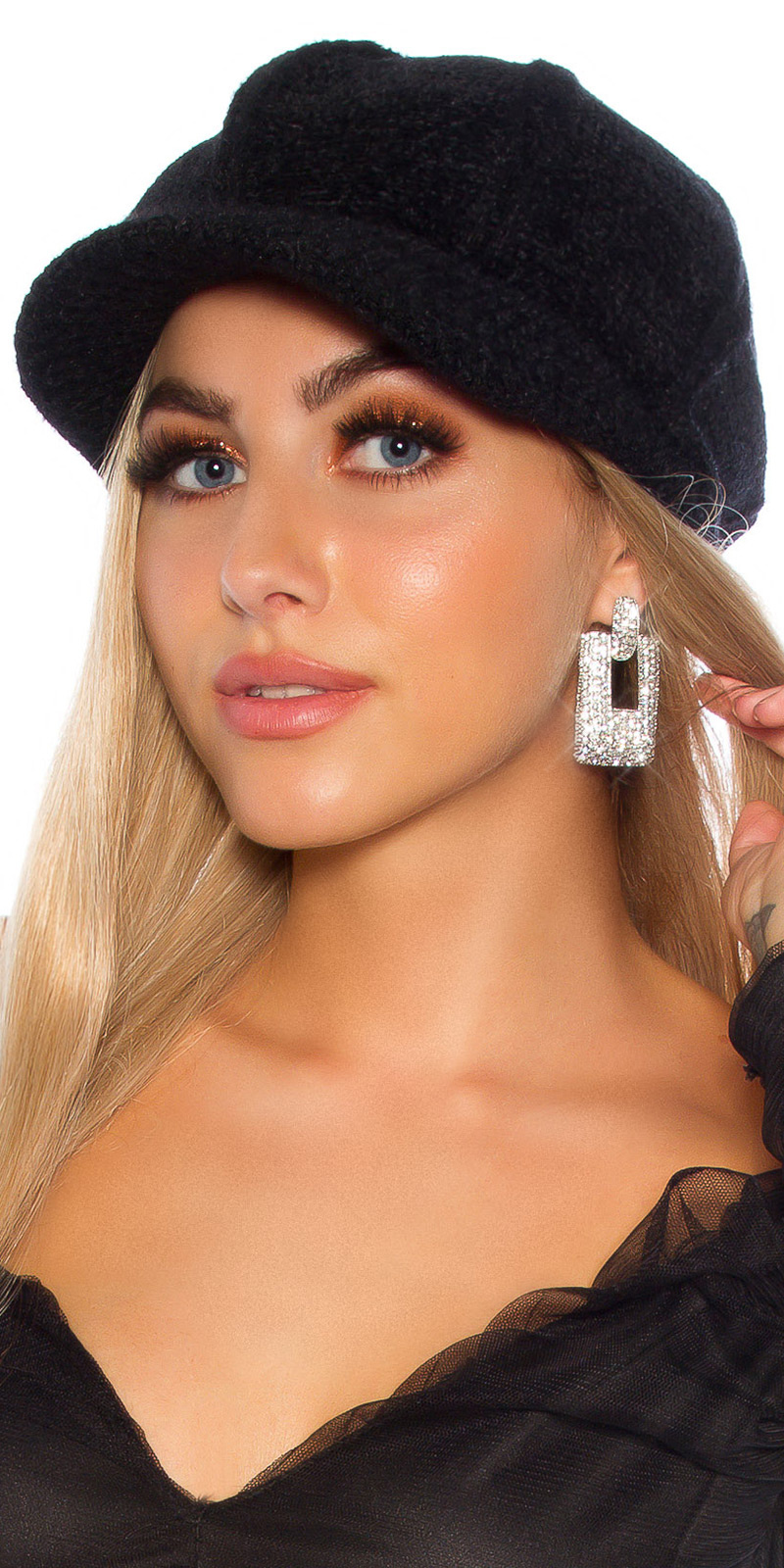 Sexy glanzende statement oorbellen zilver