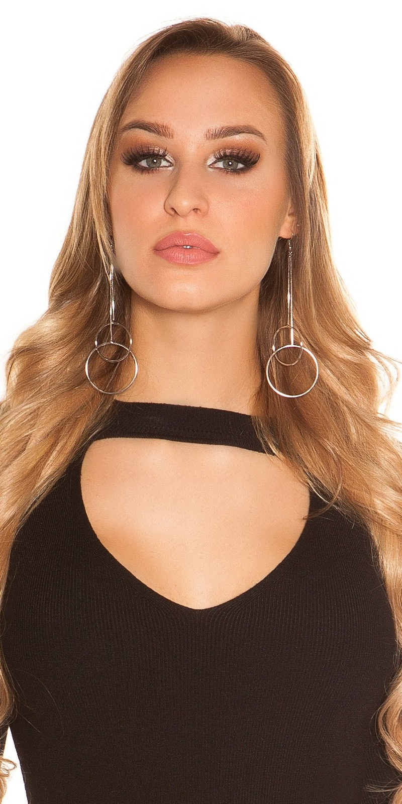 Sexy earrings with rings Silver