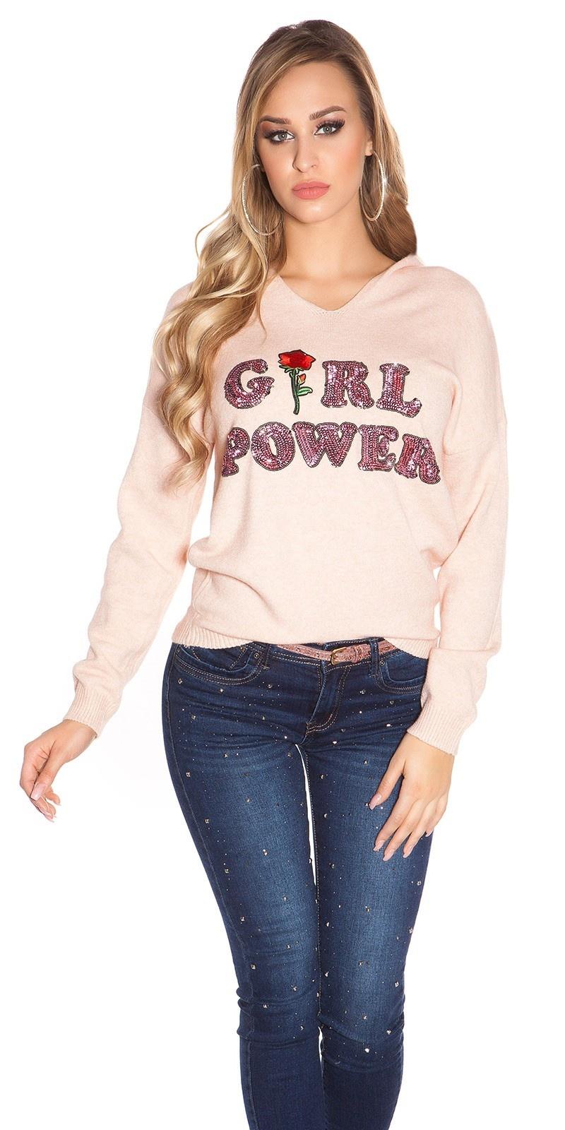 Trendy pullover girl power rose