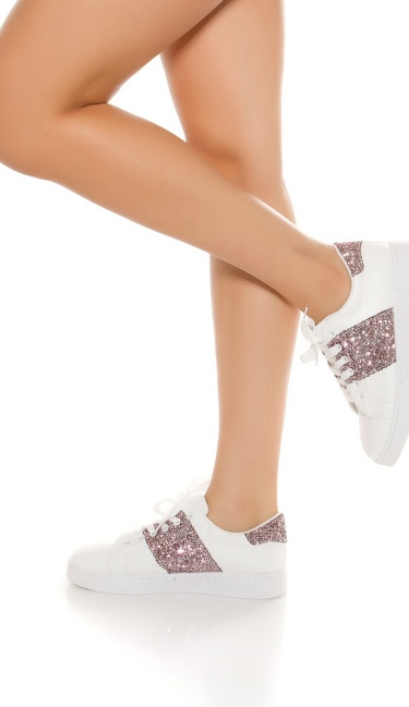 Trendy Sneakers with glitter Pink