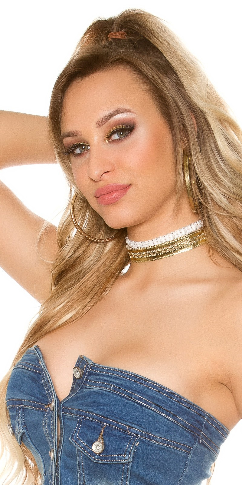 Trendy 3 WAY Choker Gold