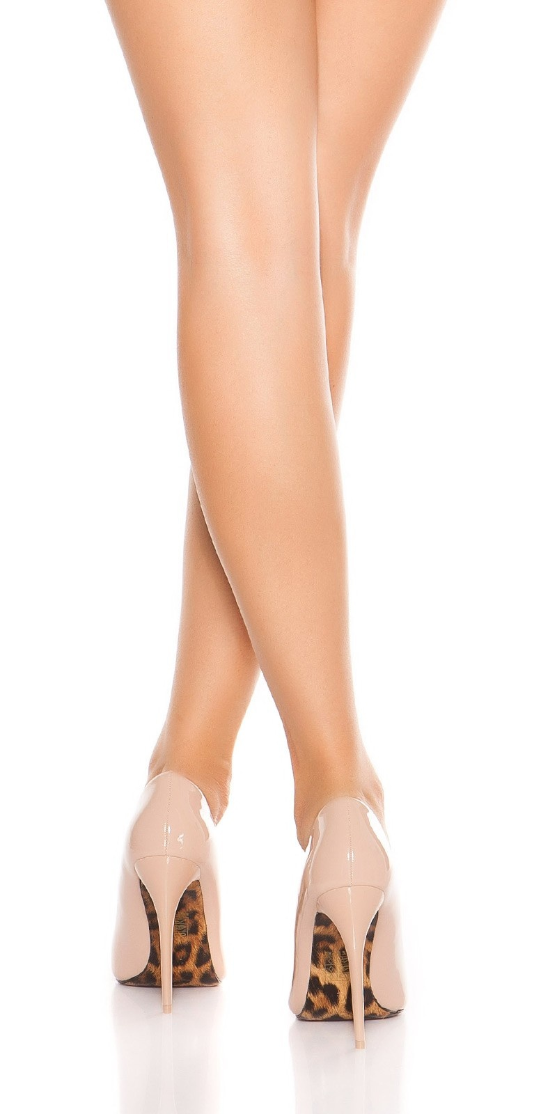 Sexy High Heels with leo soles Beige