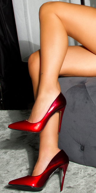 Sexy two color High Heel Pumps Red