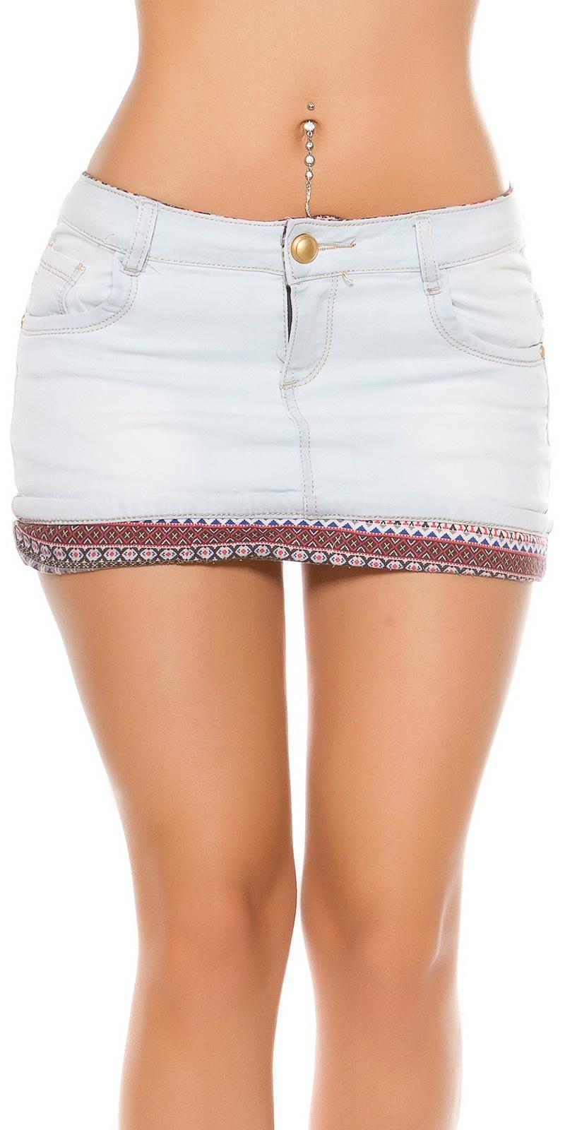 Sexy bleached denim mini skirt Jeansblue