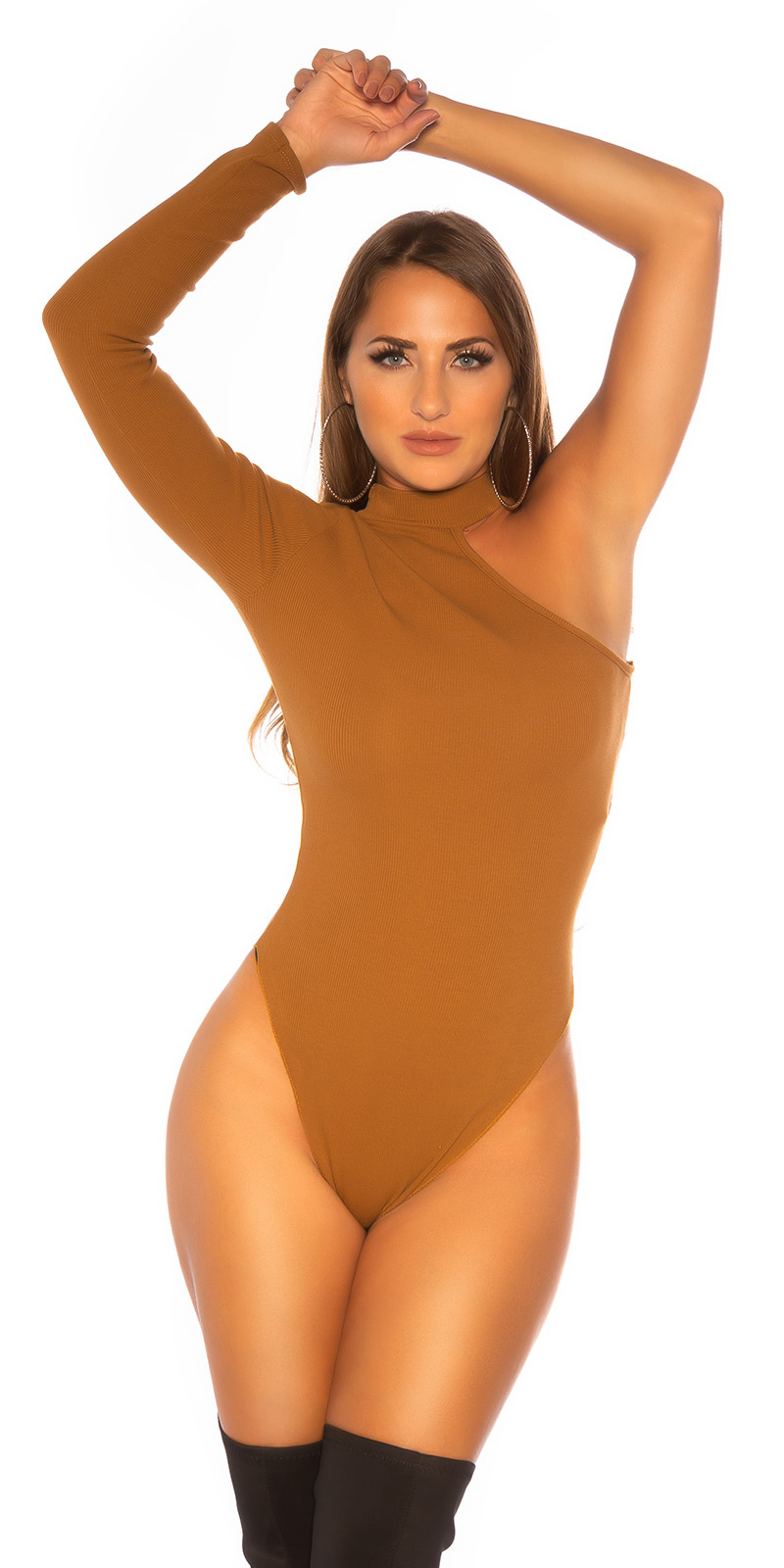 Sexy Must Have One-Shoulder Body Bronze