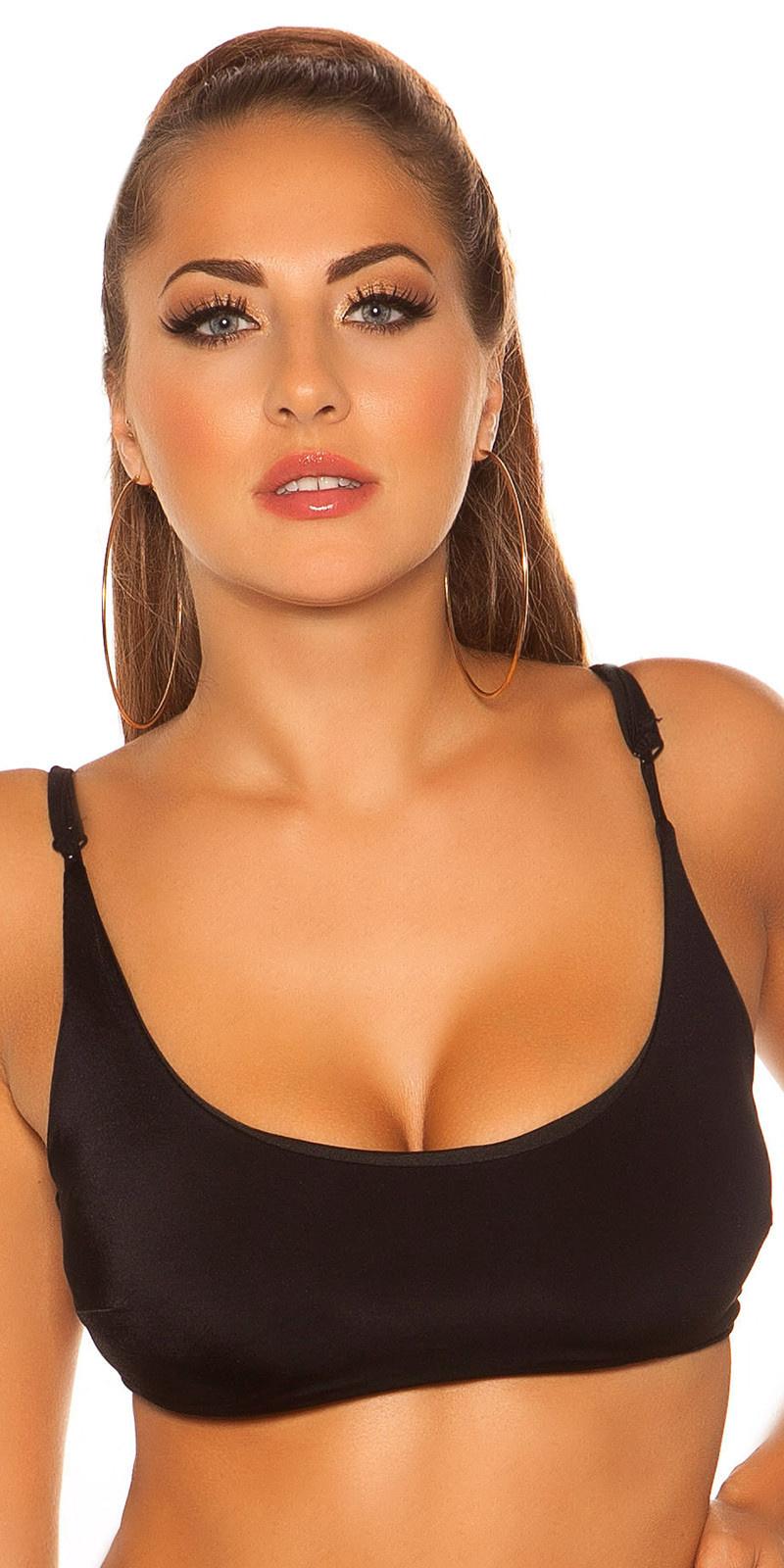 Mix it!!! sexy bikini top met verstelbare bandjes zwart