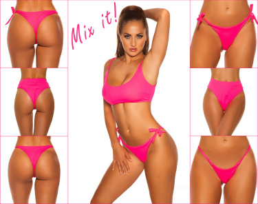 Mix It!!! Sexy KouCla Bikini Top adjustable straps Neonfuchsia