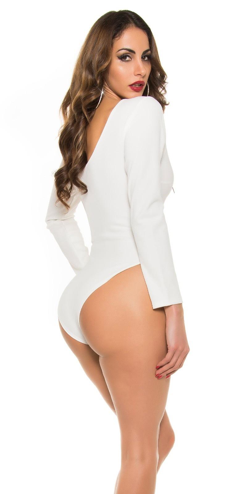 Trendy body met sexy inkijk wit