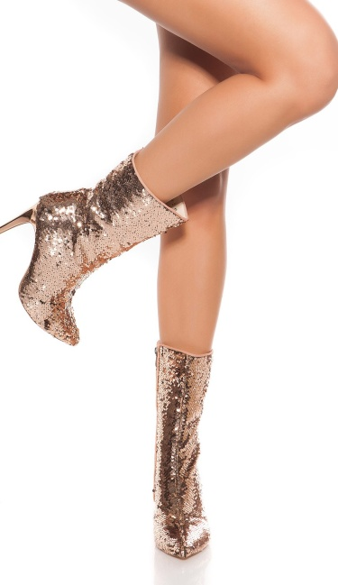 Sexy Party Sequins Ankle Boots Rose
