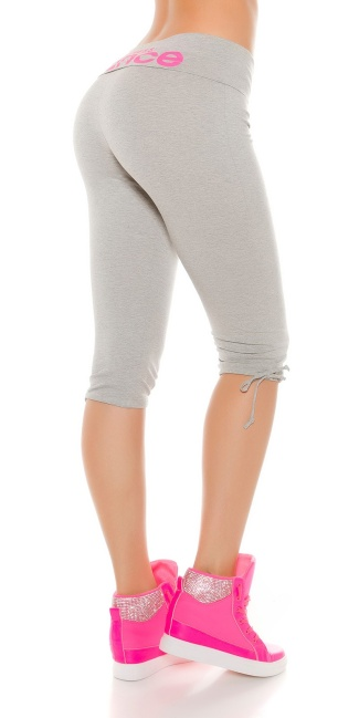 Trendy Sweat Workout Capri pants Grey