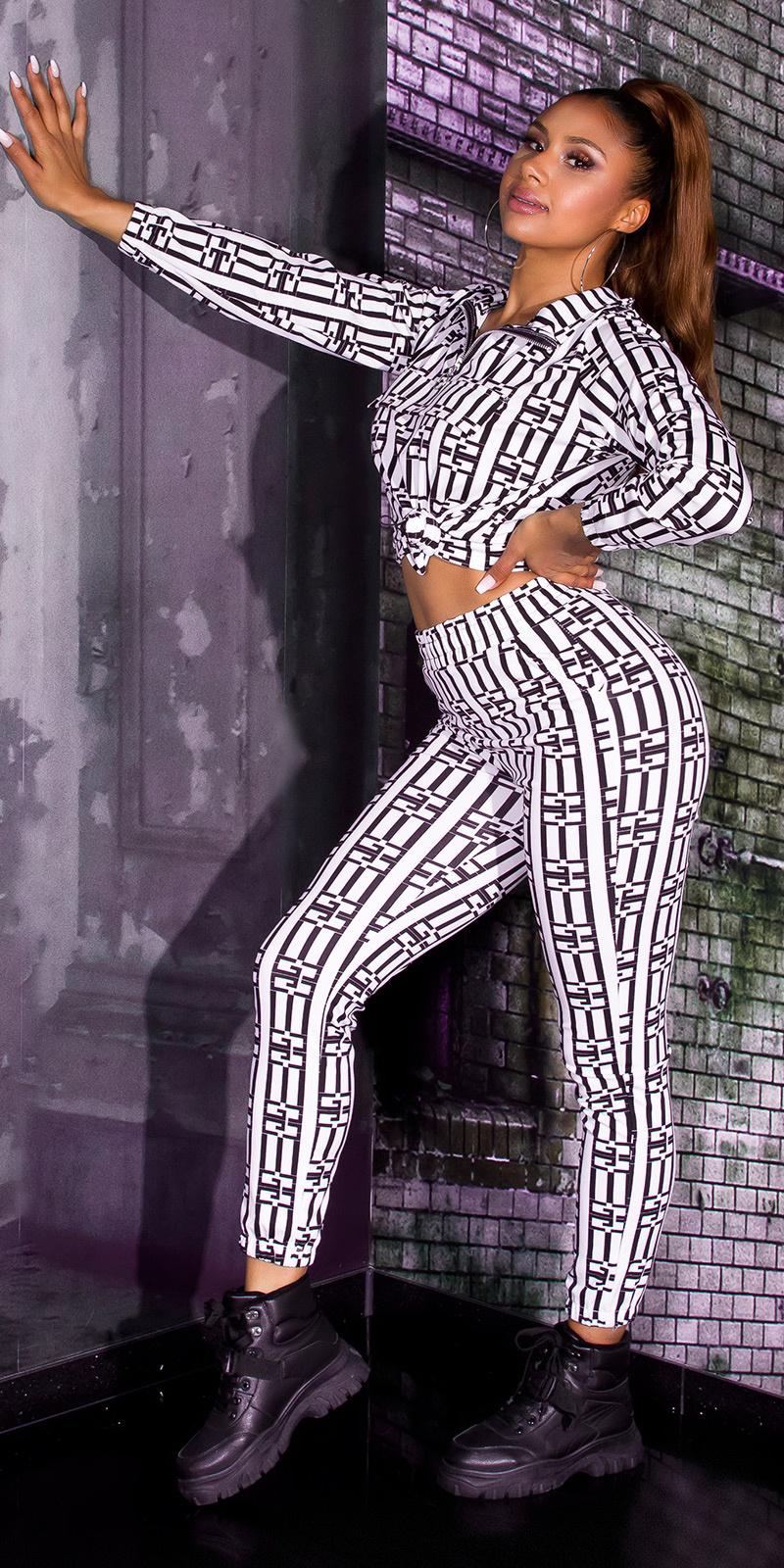 Luxury look 2-piece set leggings+sweatshirt wit