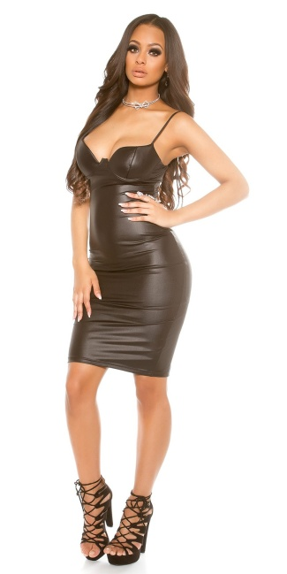 Sexy KouCla Wetlook Dress Black