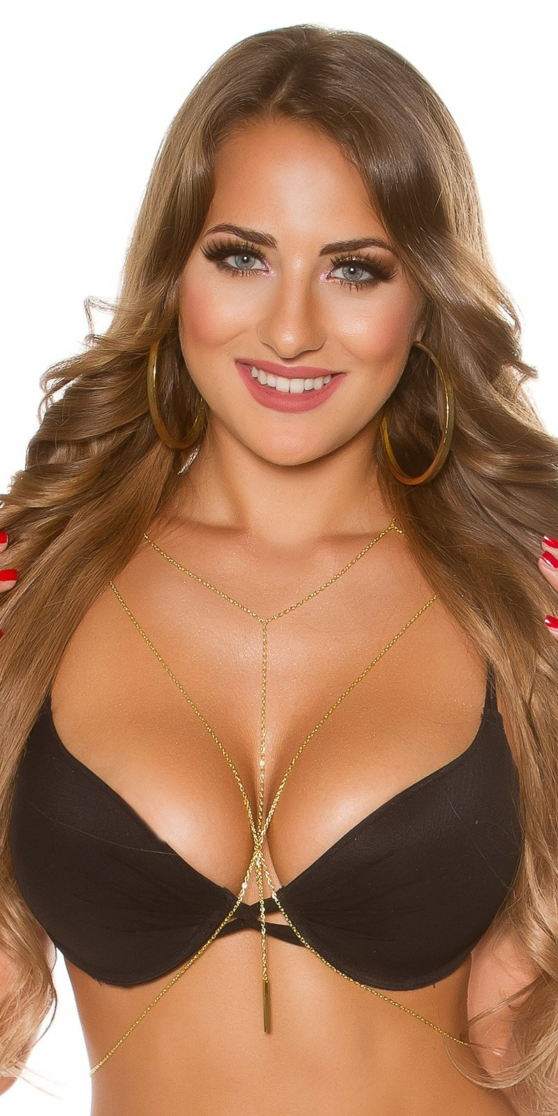 Sexy fine body necklace Gold