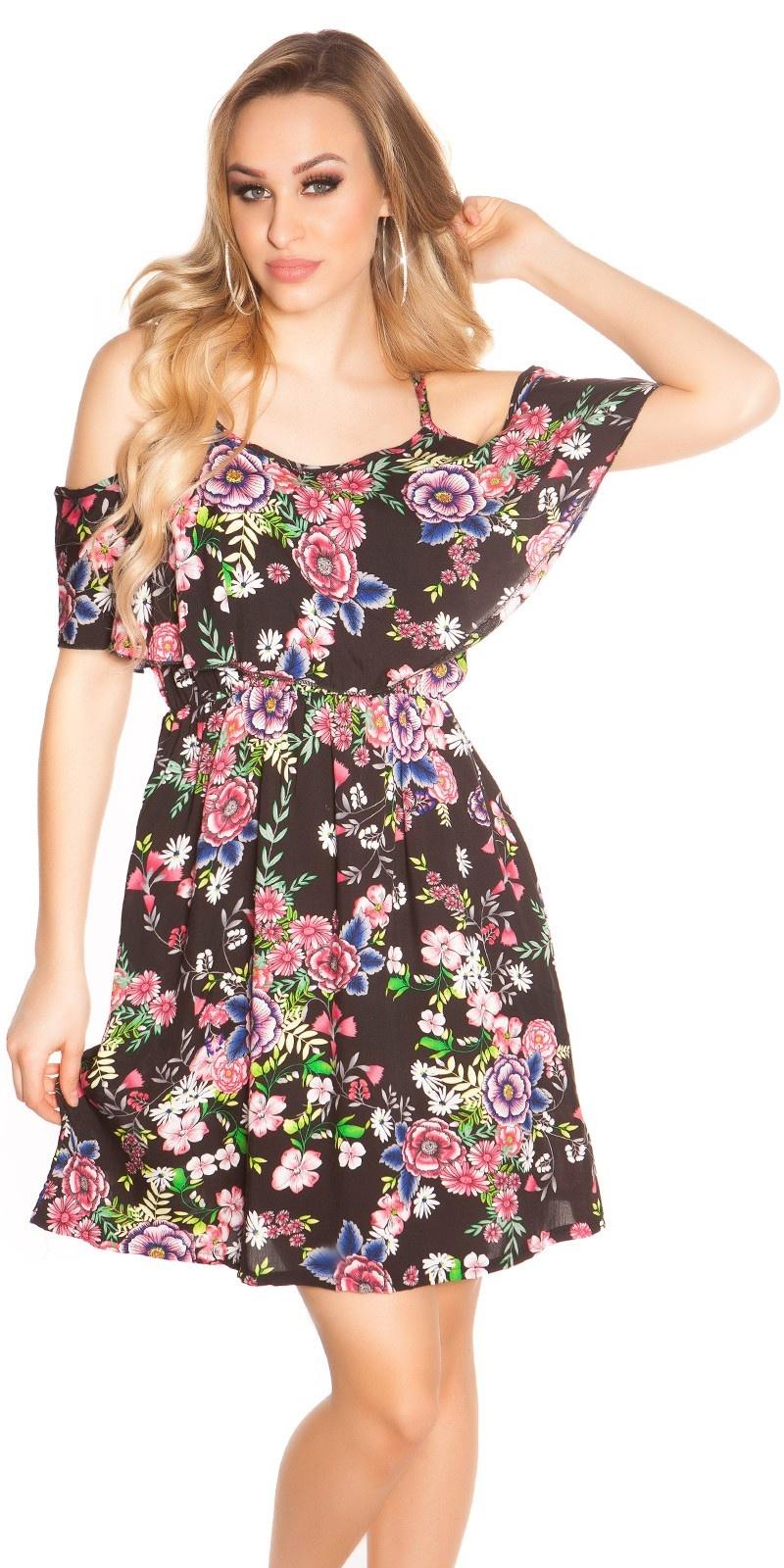 Sexy zomer mini jurkje coachella-style zwart