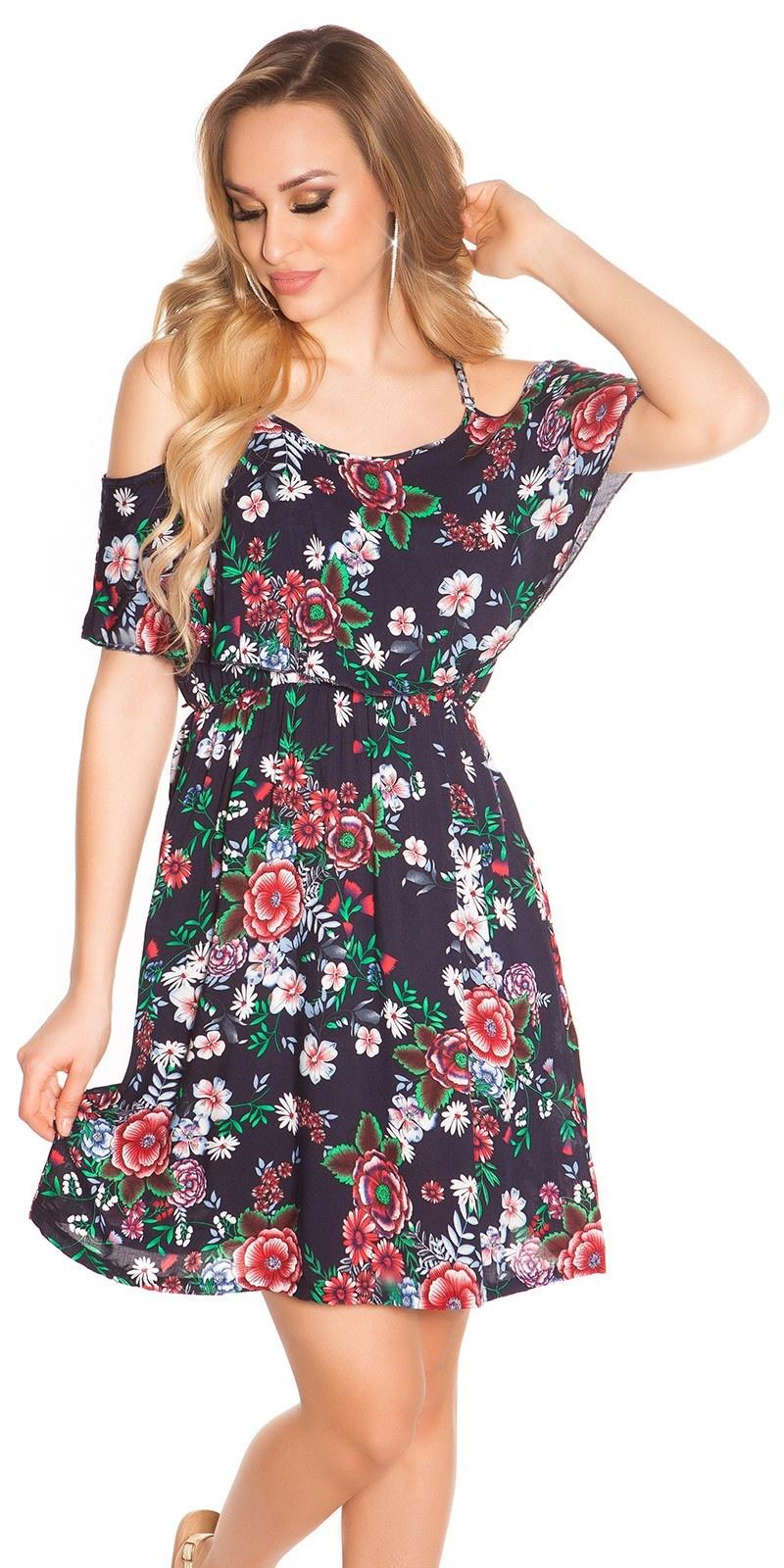 Sexy zomer mini jurkje coachella-style marineblauw