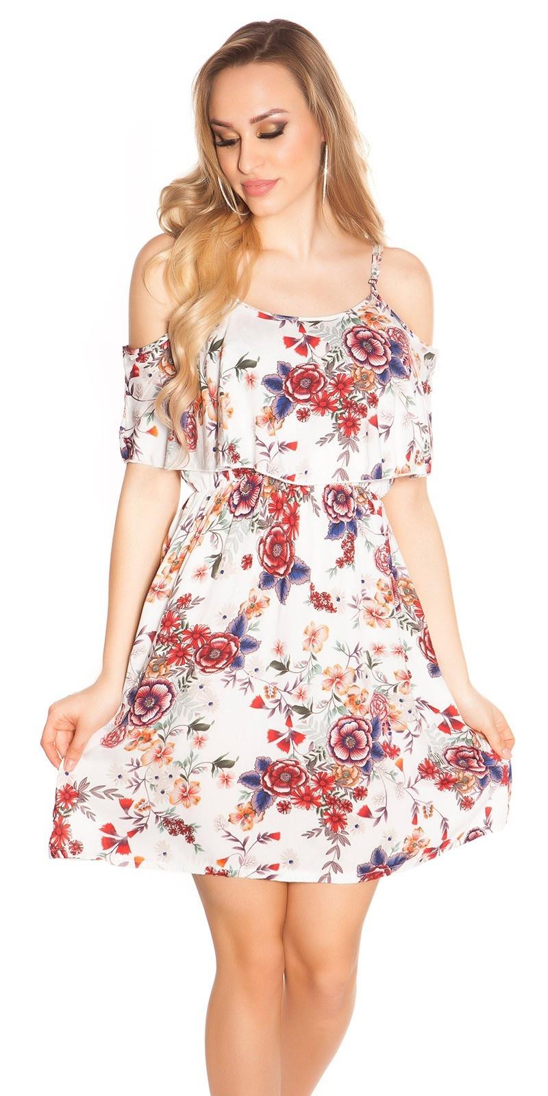 Sexy zomer mini jurkje coachella-style wit
