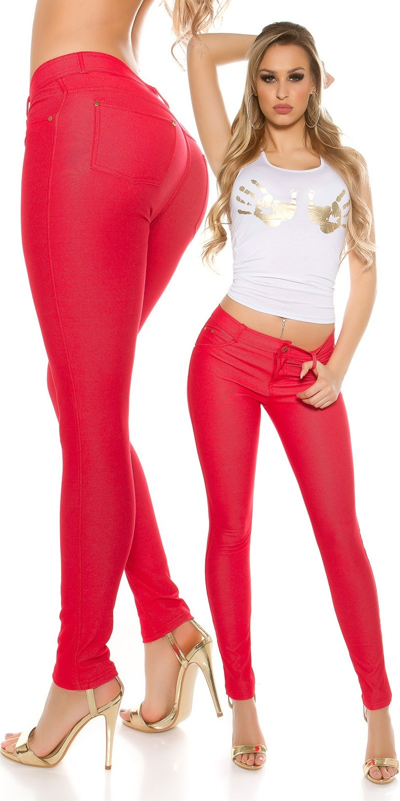 Sexy Jeggings Red