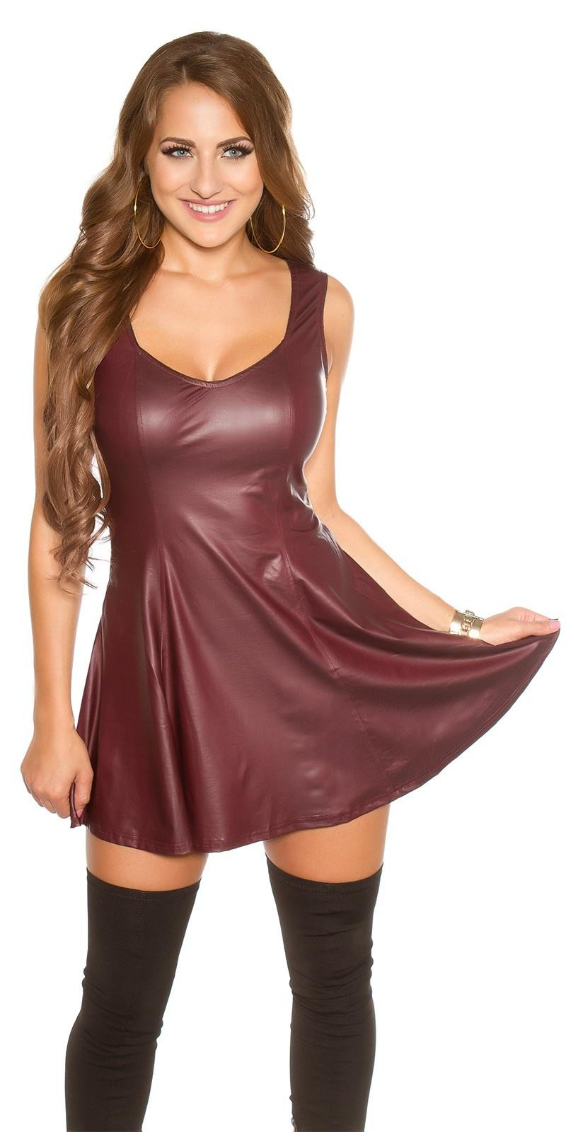 Sexy KouCla Wetlook Mini dress Bordeaux