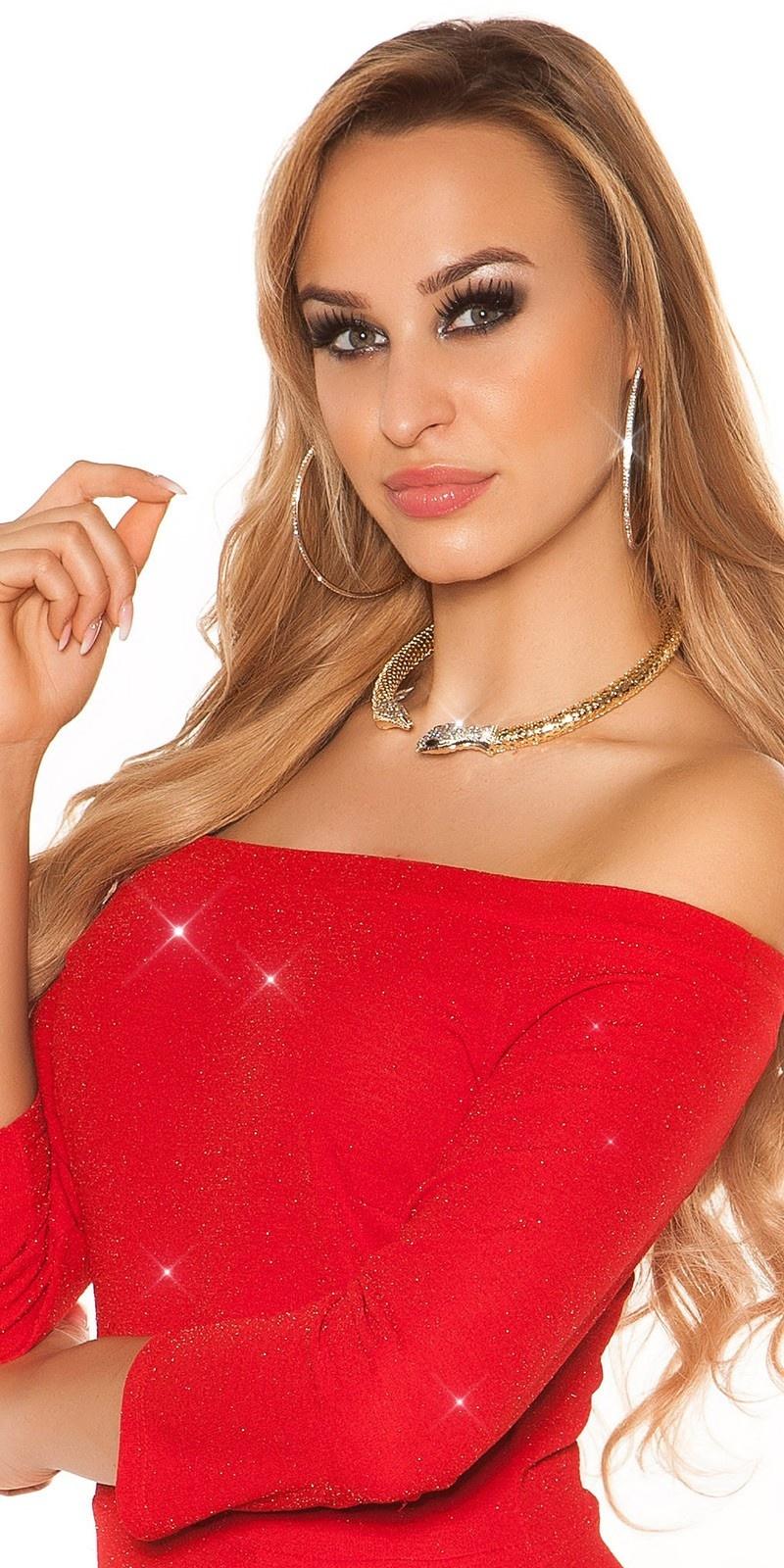 Sexy slangen halsketting met strass steentjes goud