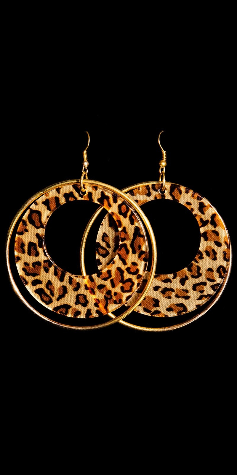 Sexy Earrings in Leo-Look Brown