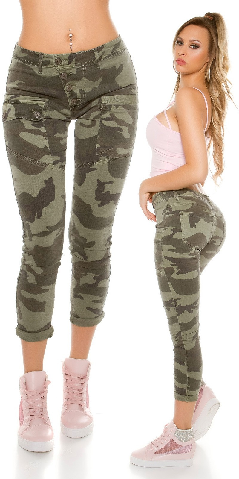 Sexy Camouflage Jeans Army