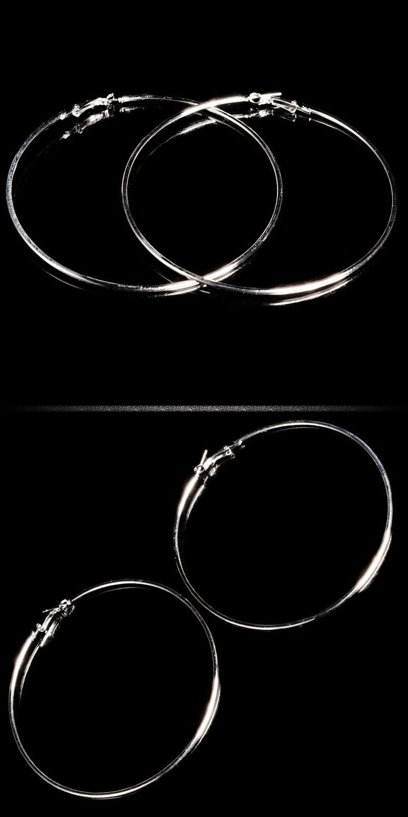 Sexy ring-oorbellen zilver