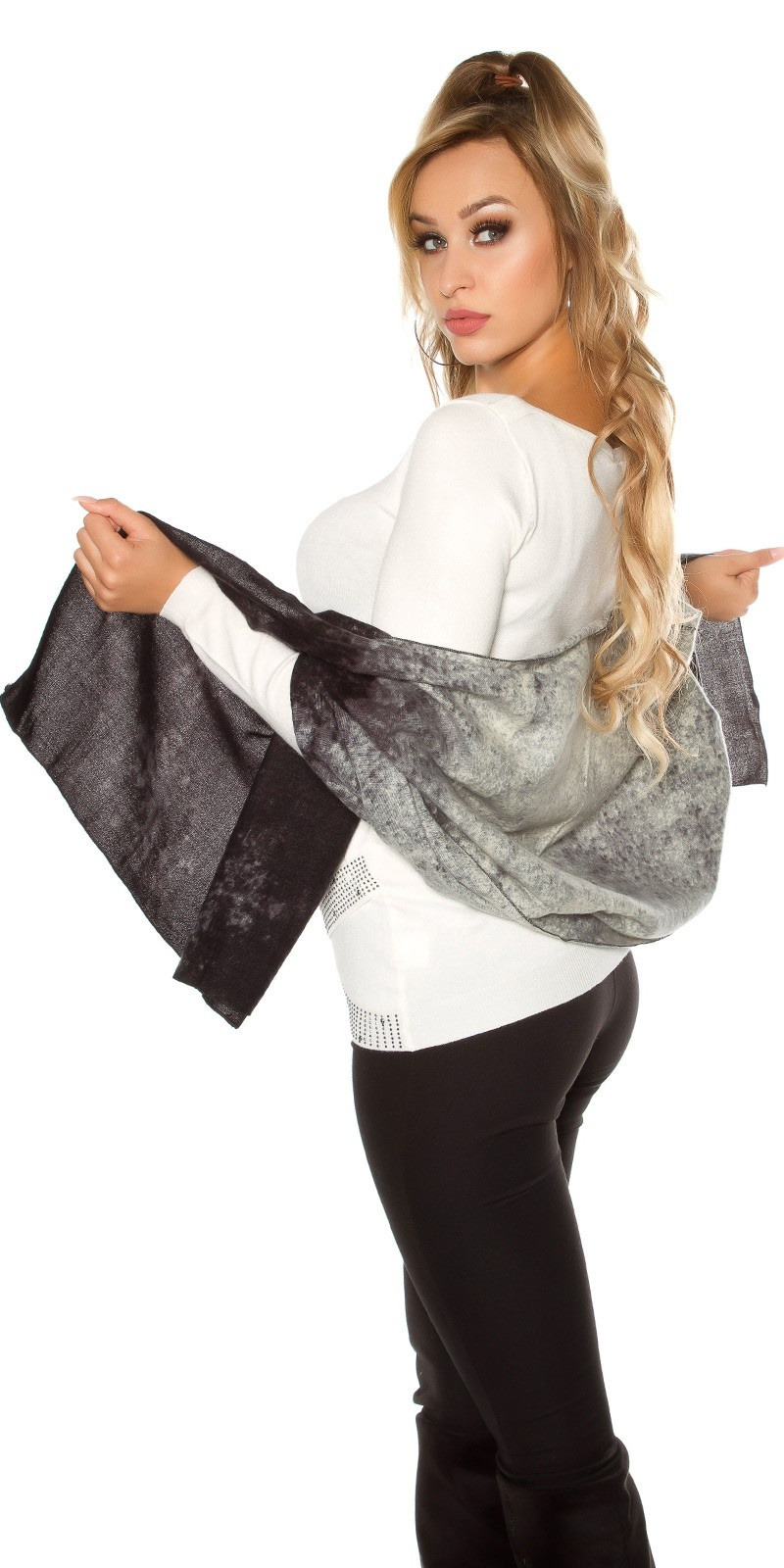 Trendy XL scarf - neck cloth Black