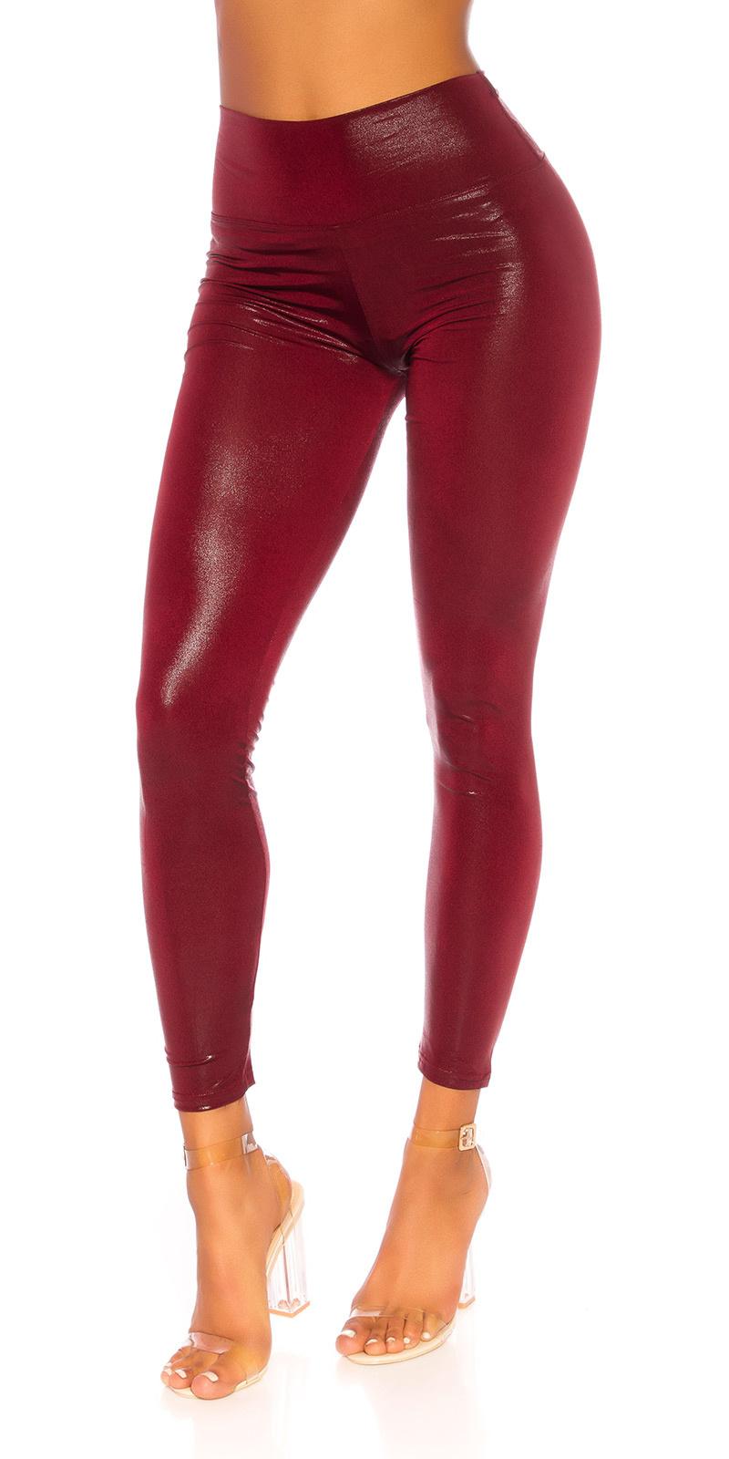 Sexy shiny leggings bordeaux