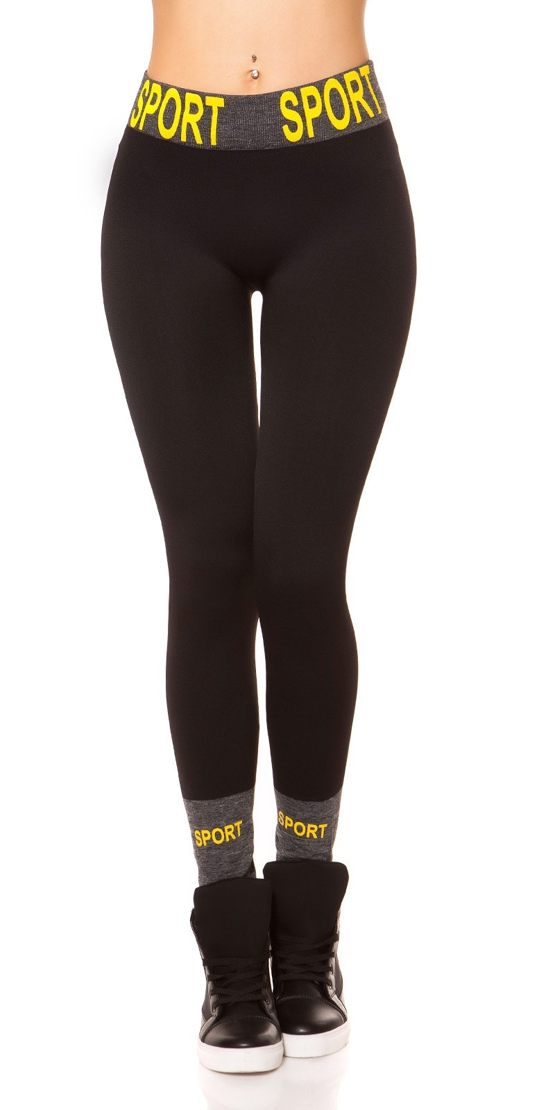 Trendy Thermo Workout Leggings SPORT Black