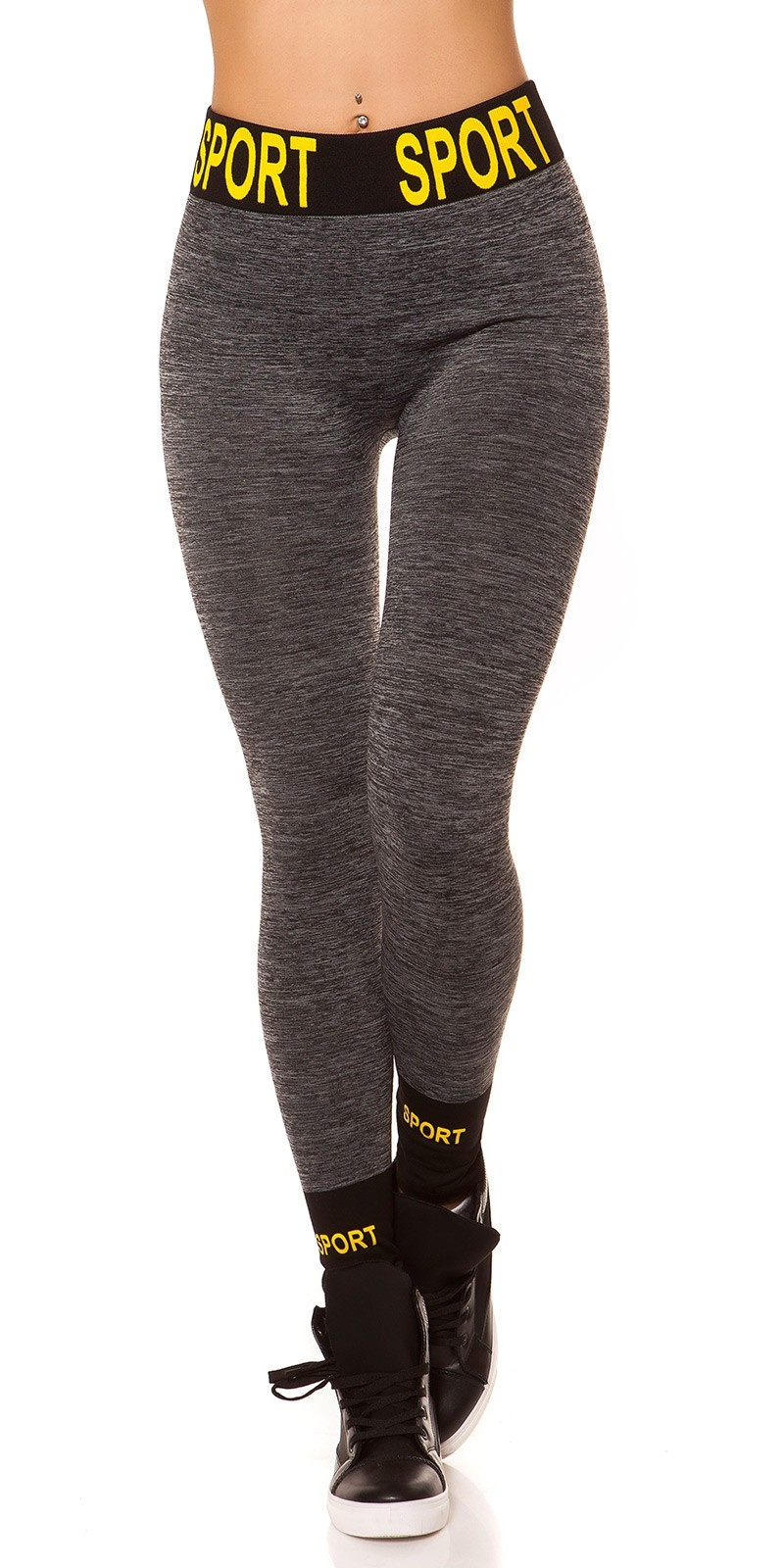 Trendy Thermo Workout Leggings SPORT Grey